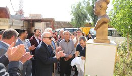 The Statue of the Martyr Kurdistan Salih Has been Placed in the Duhok University Campus