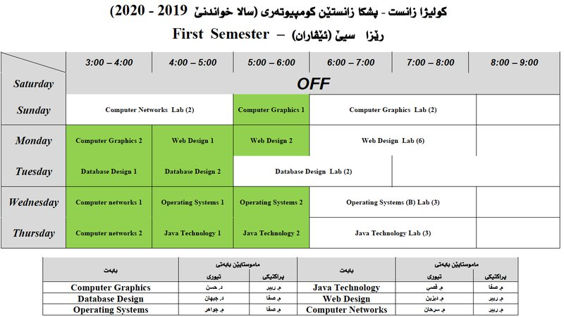College of Science Schedule CS_3E