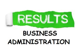 RESULTS OF FIRST  SEMESTER  - DEPARTMENT OF BUSINESS ADMINISTRATION 2019-2020