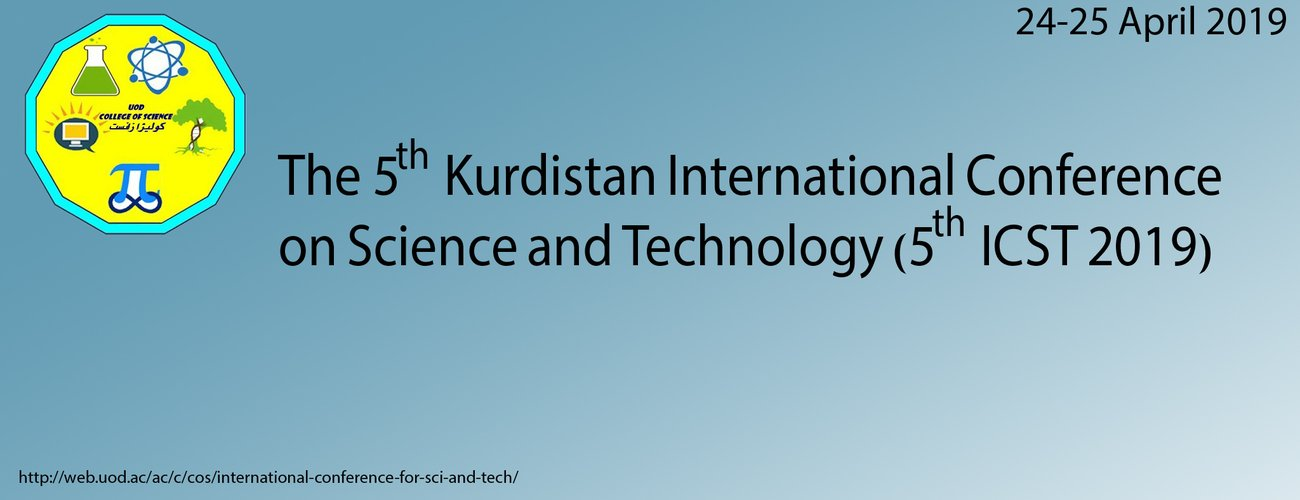 The 5th Kurdistan International Conference on Science and Technology
