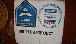 Launch the UoD PEER Project Laboratory by the President of the University of Duhok and Dean of the College of Science.