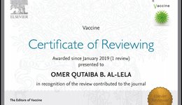 Elsevier: A Prestigious and Proud Announcement, Ass. Prof. Dr. Omer Al-lela