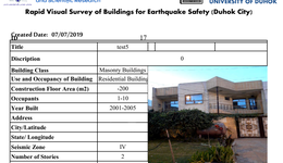 Seismic Vulnerability Assessment of Existing Buildings in Duhok City Research Project