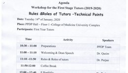 Workshop for the first stage Tutors(2019-2020)