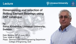Lecture: Dimensioning and selection of  Rolling Element Bearings using SKF Catalogue