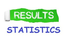 RESULTS OF FIRST  SEMESTER  - DEPARTMENT OF STATISTICS 2019-2020