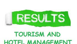 RESULTS OF FIRST  SEMESTER  - DEPARTMENT OF TOURISM AND HOTEL MANAGEMENT 2019-2020
