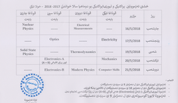 Physic department, practical and practical/ theoretical exams schedule