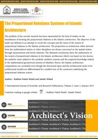 The Proportional Relations Systems of Islamic Architecture