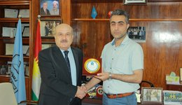 UoD honored a faculty member form Engineering College